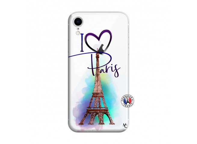 Coque iPhone XR I Love Paris