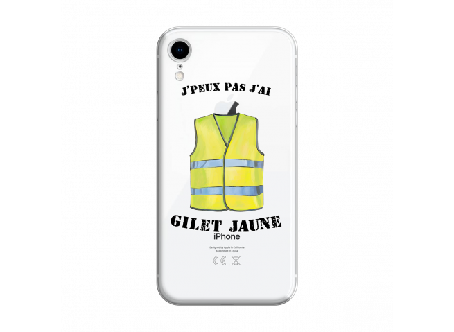 Coque iPhone XR J Peux Pas J Ai Gilet Jaune