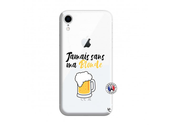 Coque iPhone XR Jamais Sans Ma Blonde