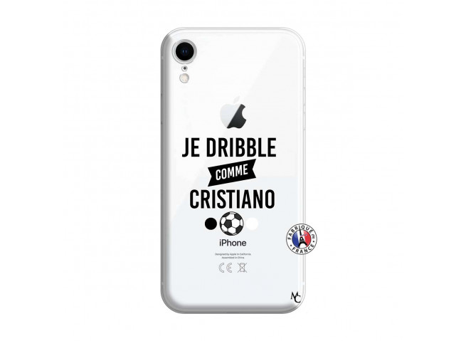Coque iPhone XR Je Dribble Comme Cristiano