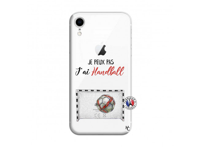 Coque iPhone XR Je peux pas j'ai Handball