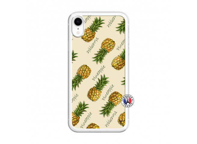 Coque iPhone XR Sorbet Ananas Translu
