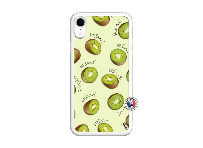 Coque iPhone XR Sorbet Kiwi Translu