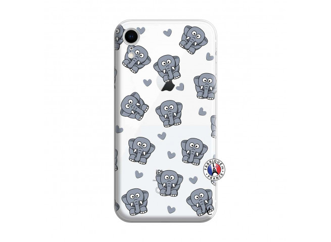 Coque iPhone XR Petits Elephants