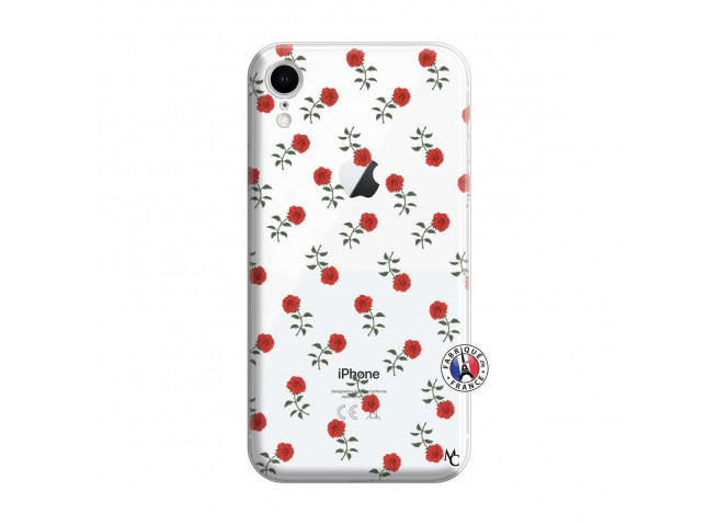 Coque iPhone XR Rose Pattern