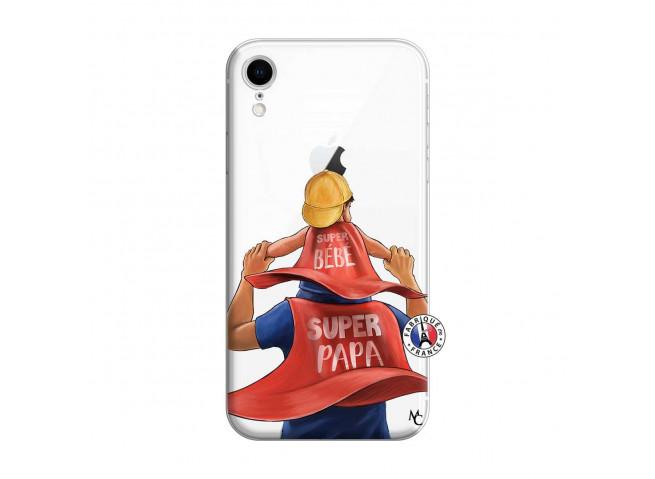 Coque iPhone XR Super Papa et Super Bébé