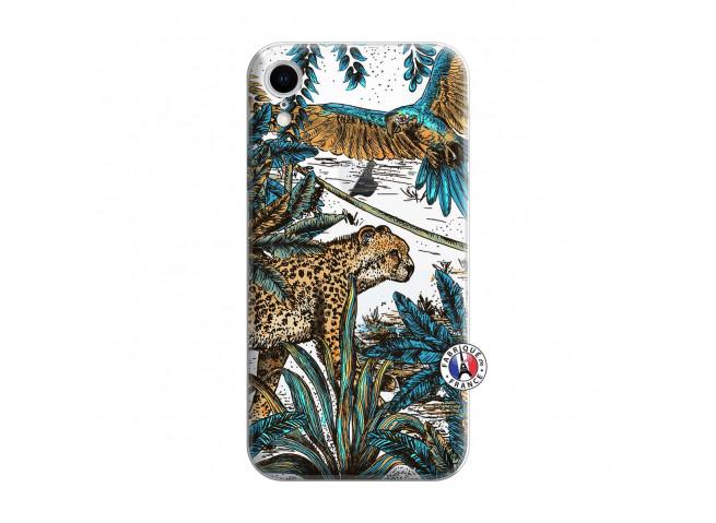 Coque iPhone XR Leopard Jungle