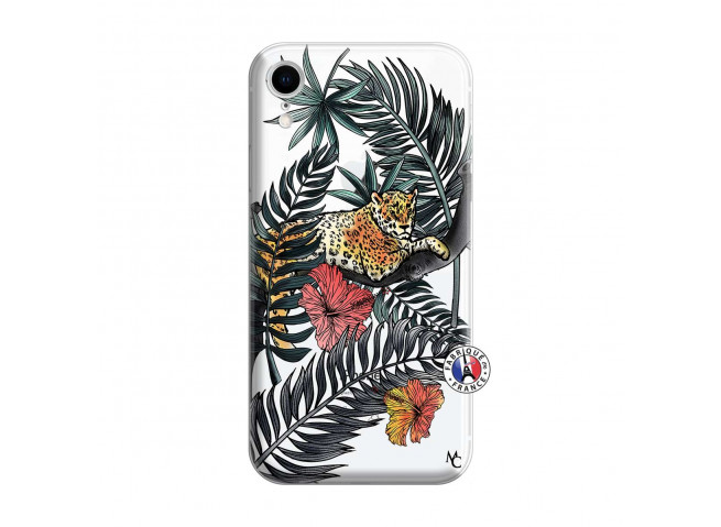 Coque iPhone XR Leopard Tree