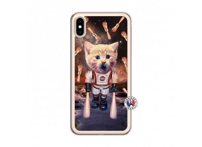 Coque iPhone XS MAX Cat Nasa Translu