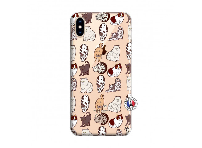 Coque iPhone XS MAX Cat Pattern