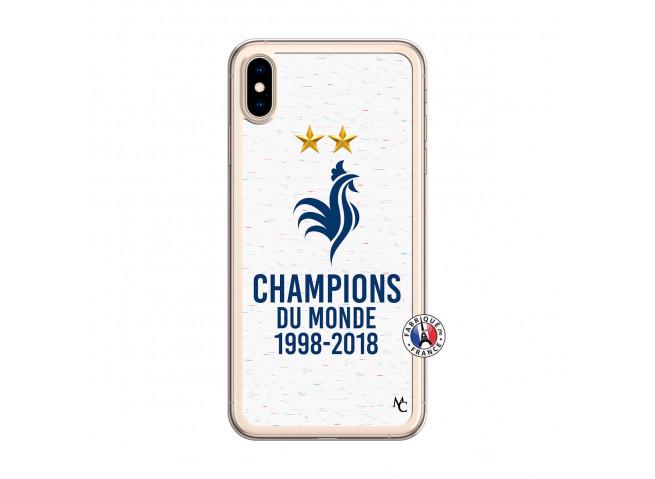 Coque iPhone XS MAX Champion Du Monde Translu