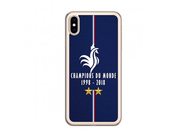 Coque iPhone XS MAX Champions Du Monde 1998 2018 Transparente