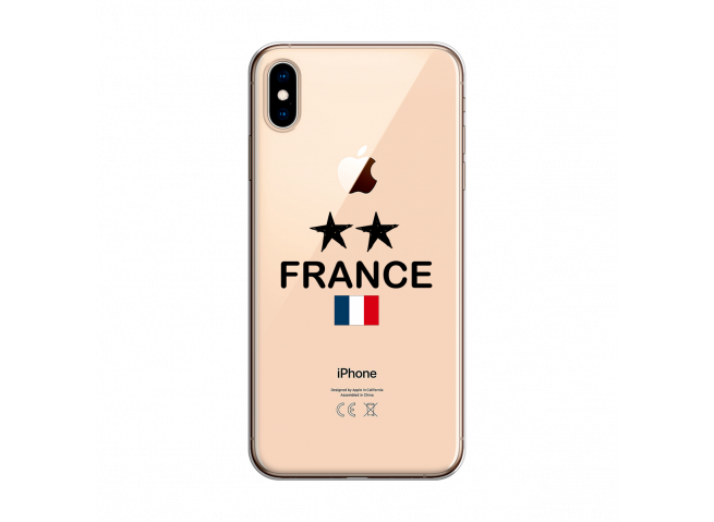 Coque iPhone XS MAX France 2 Etoiles