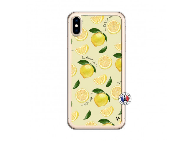 Coque iPhone XS MAX Sorbet Citron Translu