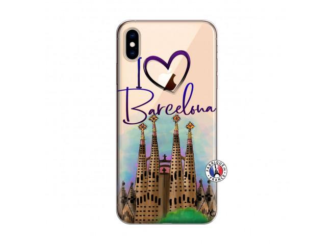Coque iPhone XS MAX I Love Barcelona