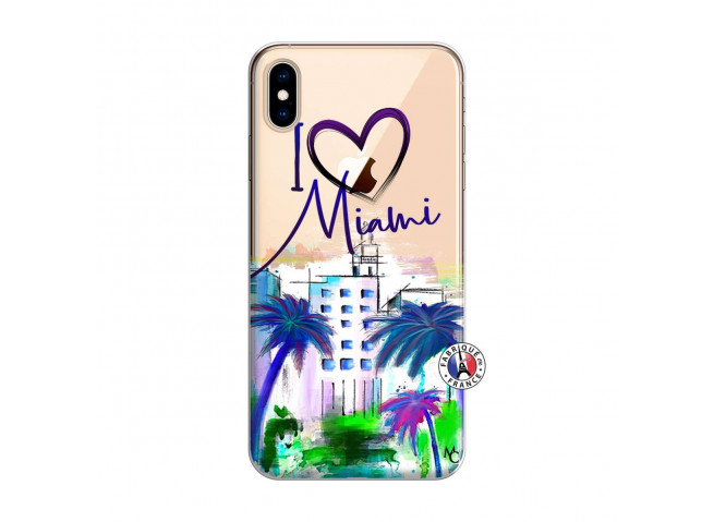 Coque iPhone XS MAX I Love Miami