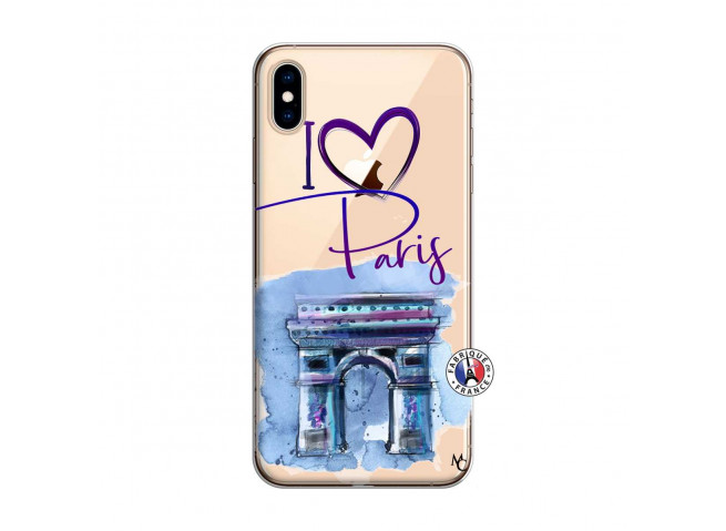 Coque iPhone XS MAX I Love Paris Arc Triomphe