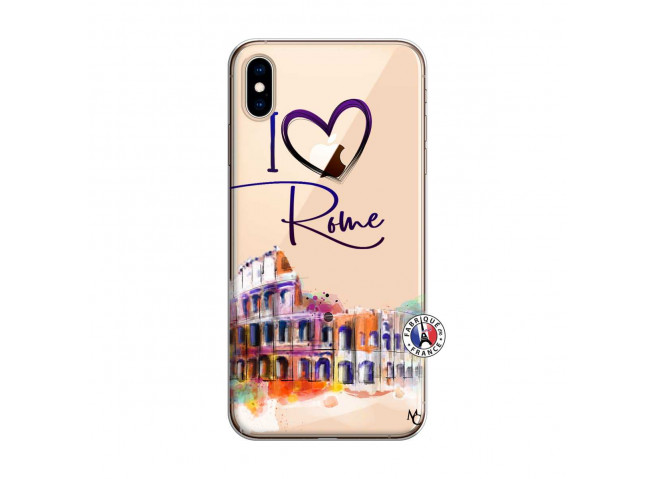 Coque iPhone XS MAX I Love Rome