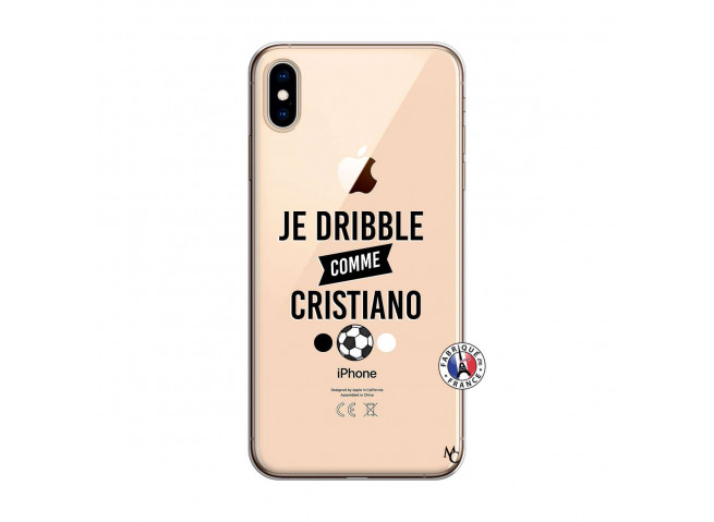 Coque iPhone XS MAX Je Dribble Comme Cristiano