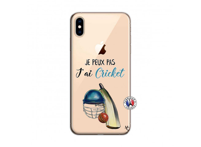 Coque iPhone XS MAX Je peux pas j'ai cricket