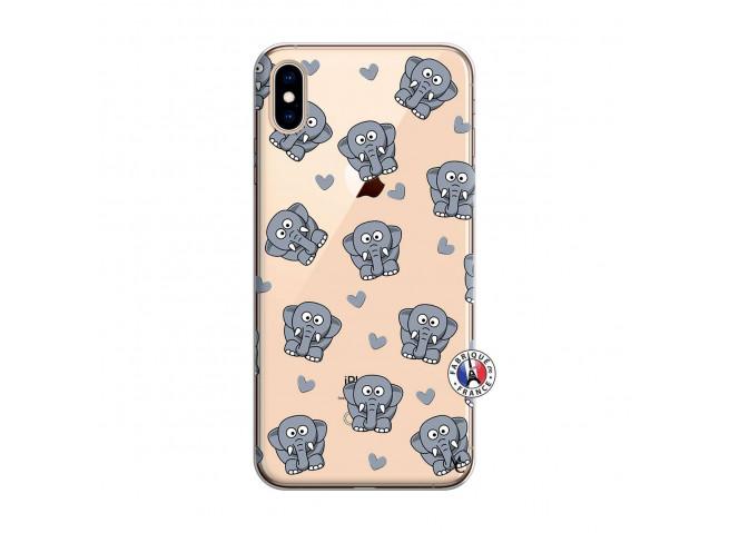 Coque iPhone XS MAX Petits Elephants