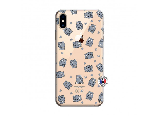 Coque iPhone XS MAX Petits Hippos