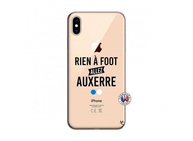 Coque iPhone XS MAX Rien A Foot Allez Auxerre