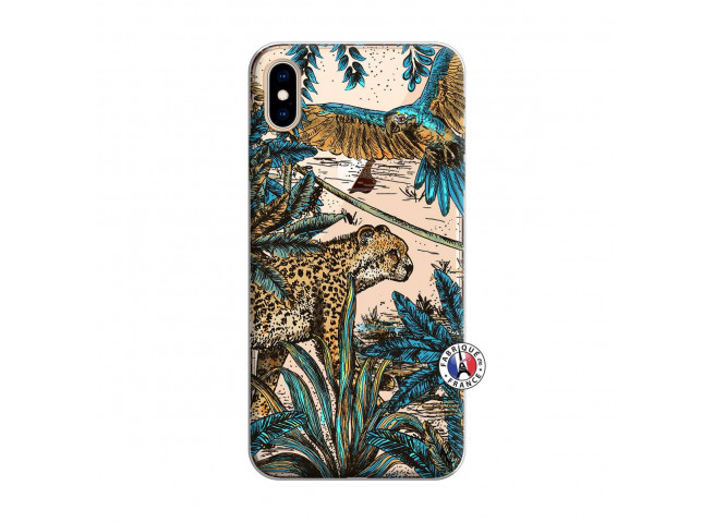 Coque iPhone XS MAX Leopard Jungle