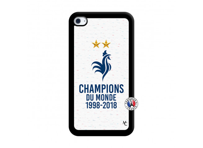 Coque iPod Touch 4 Champion Du Monde Noir