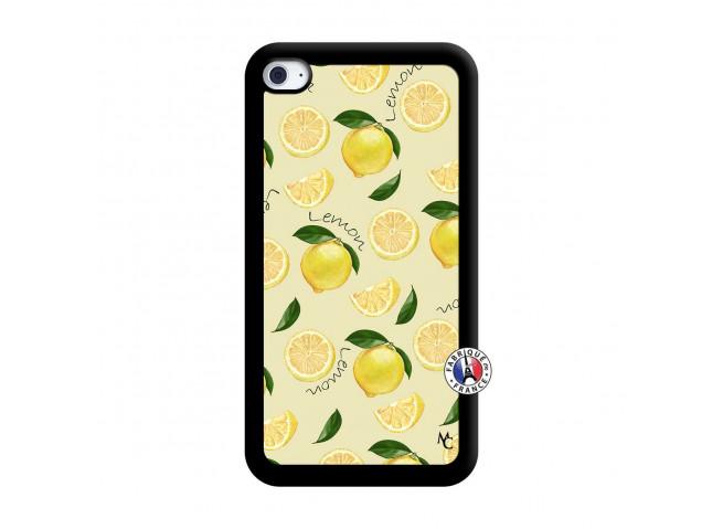 Coque iPod Touch 4 Sorbet Citron Noir