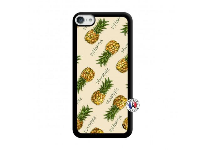 Coque iPod Touch 5/6 Sorbet Ananas Noir