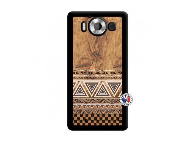 Coque Microsoft Lumia 950 Aztec Deco Noir