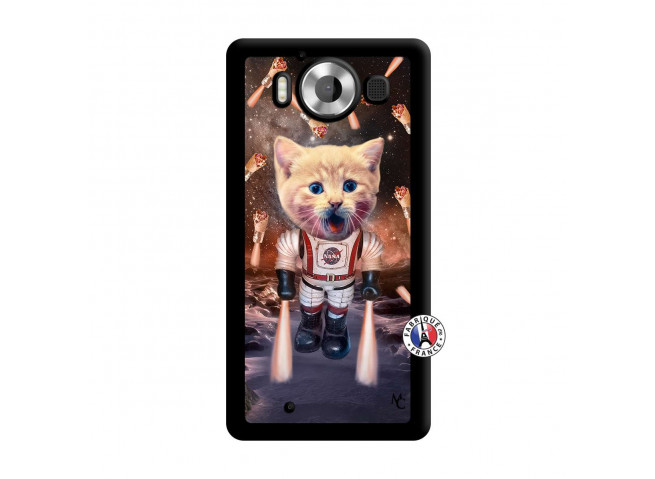 Coque Microsoft Lumia 950 Cat Nasa Noir