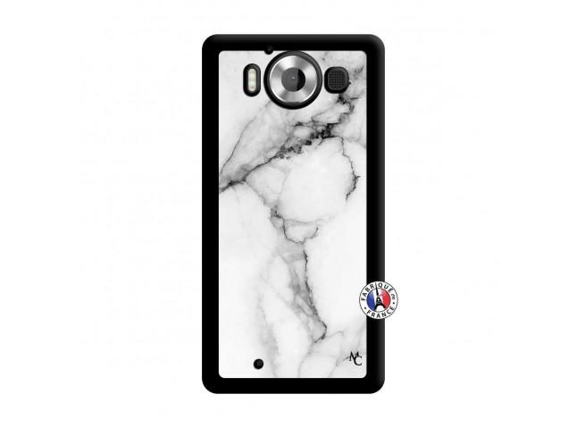 Coque Microsoft Lumia 950 White Marble Noir
