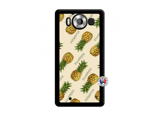 Coque Microsoft Lumia 950 Sorbet Ananas Noir