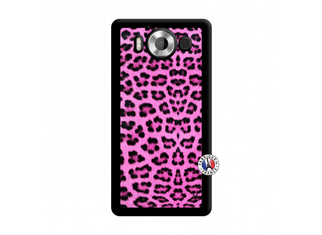 Coque Microsoft Lumia 950 Pink Leopard Noir