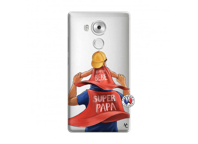 Coque Huawei Mate 8 Super Papa et Super Bébé