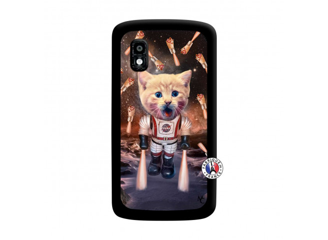 Coque Lg Nexus 4 Cat Nasa Noir