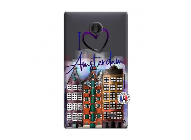 Coque Microsoft Nokia X I Love Amsterdam