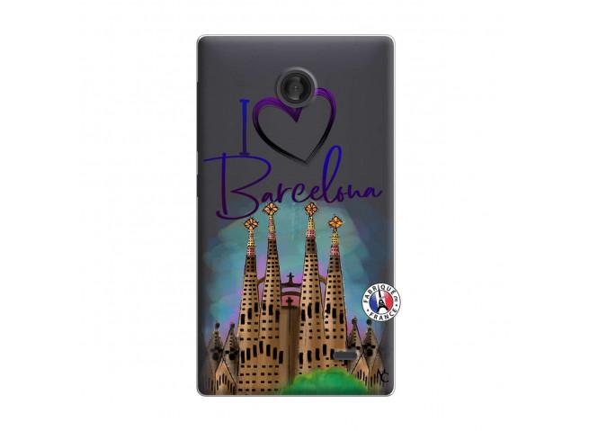 Coque Microsoft Nokia X I Love Barcelona