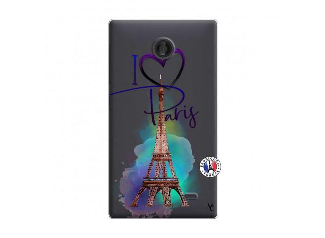 Coque Microsoft Nokia X I Love Paris