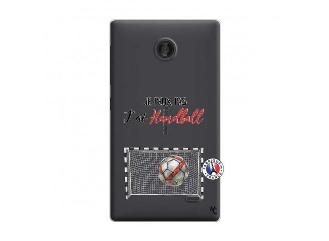 Coque Microsoft Nokia X Je peux pas j'ai Handball