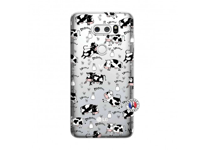 Coque Lg V30 Cow Pattern
