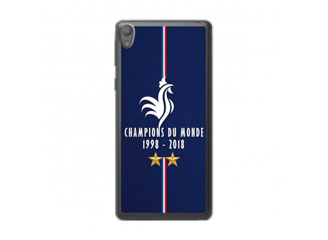 Coque Sony Xperia E5 Champions Du Monde 1998 2018 Transparente