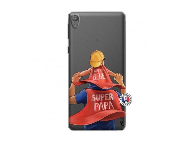 Coque Sony Xperia E5 Super Papa et Super Bébé