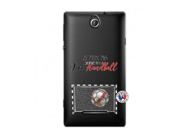 Coque Sony Xperia E Je peux pas j'ai Handball