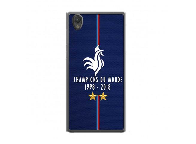 Coque Sony Xperia L1 Champions Du Monde 1998 2018 Transparente