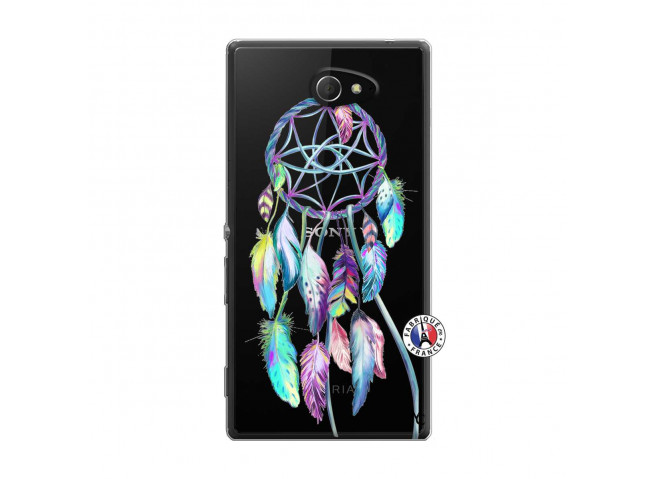 Coque Sony Xperia M2 Blue Painted Dreamcatcher