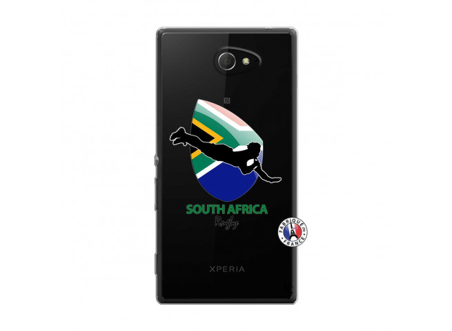 Coque Sony Xperia M2 Coupe du Monde Rugby-South Africa
