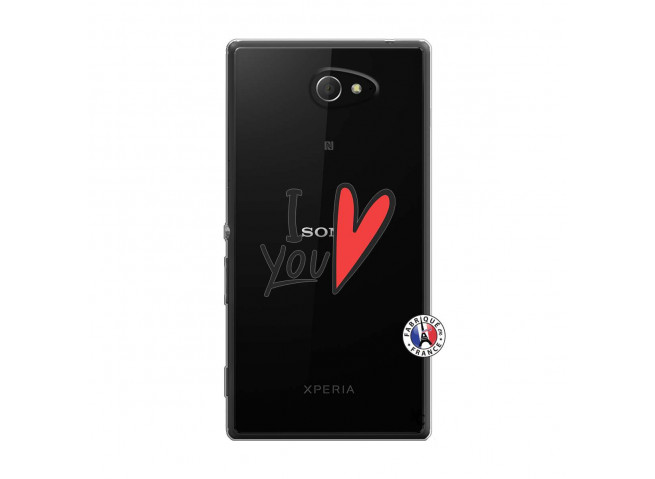 Coque Sony Xperia M2 I Love You
